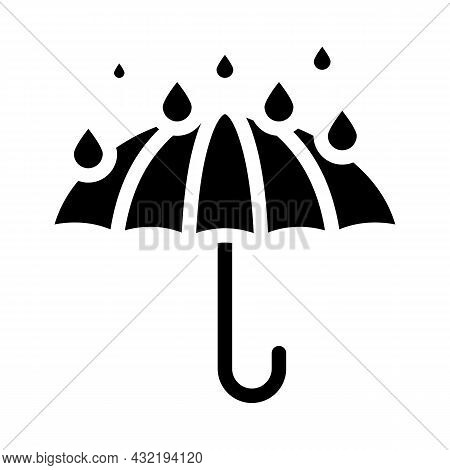 Keep Dry Care From Water Glyph Icon Vector. Keep Dry Care From Water Sign. Isolated Contour Symbol B