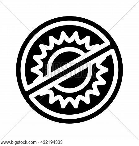Protect From Sun Rays Glyph Icon Vector. Protect From Sun Rays Sign. Isolated Contour Symbol Black I