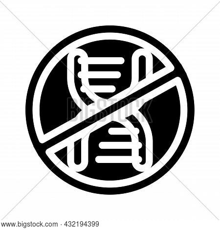 Gmo Free Glyph Icon Vector. Gmo Free Sign. Isolated Contour Symbol Black Illustration