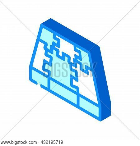 Rubber Cover Floor Isometric Icon Vector. Rubber Cover Floor Sign. Isolated Symbol Illustration