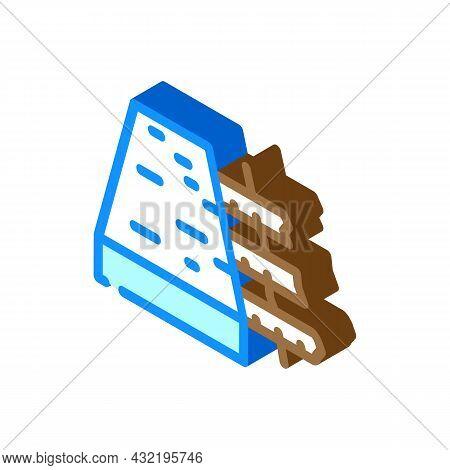Reinforced Concrete Floor Isometric Icon Vector. Reinforced Concrete Floor Sign. Isolated Symbol Ill