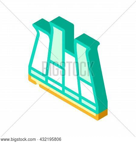 Modular Pva Cover Floor Isometric Icon Vector. Modular Pva Cover Floor Sign. Isolated Symbol Illustr