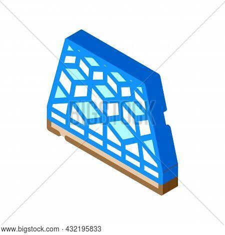 Mosaic Floor Isometric Icon Vector. Mosaic Floor Sign. Isolated Symbol Illustration