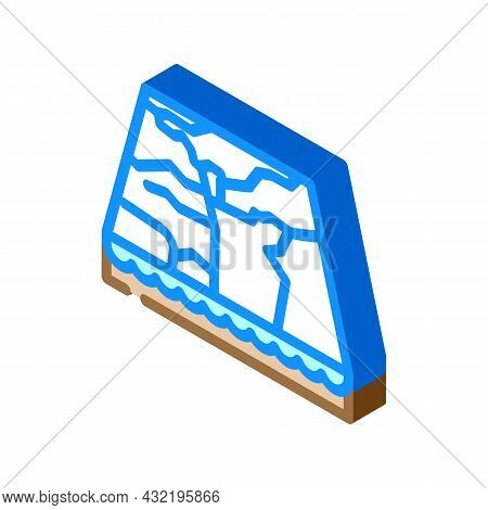 Marble Material Floor Layer Isometric Icon Vector. Marble Material Floor Layer Sign. Isolated Symbol