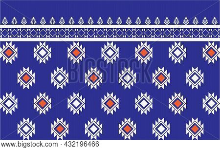 Ethnic Seamless Pattern Traditional Background Design For Carpet, Wallpaper, Wrapping, Batik.
