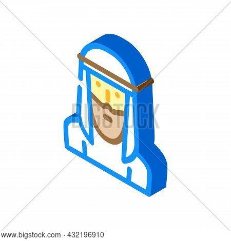Arab Muslim Guy Isometric Icon Vector. Arab Muslim Guy Sign. Isolated Symbol Illustration