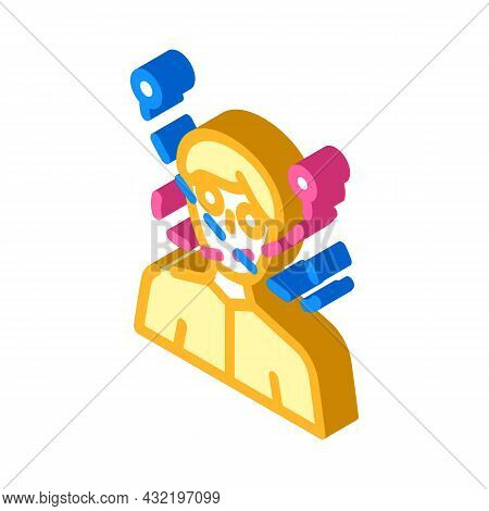 Madness Guy Isometric Icon Vector. Madness Guy Sign. Isolated Symbol Illustration