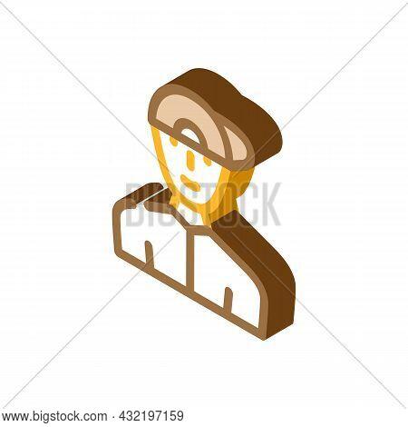 Childhood Teenager Man Isometric Icon Vector. Childhood Teenager Man Sign. Isolated Symbol Illustrat