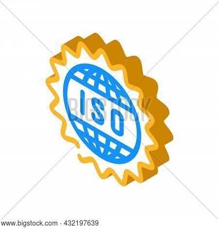 Iso Standard Isometric Icon Vector. Iso Standard Sign. Isolated Symbol Illustration