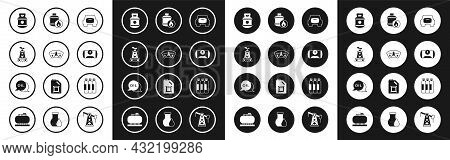 Set Spare Wheel In The Car, Motor Gas Gauge, Oil Rig, Propane Tank, Gas For Vehicle, Industrial Cyli