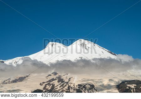 The Caucasian Mountain Range. Perspective Of Caucasian Snow The Caucasian Mountain Range. Perspectiv