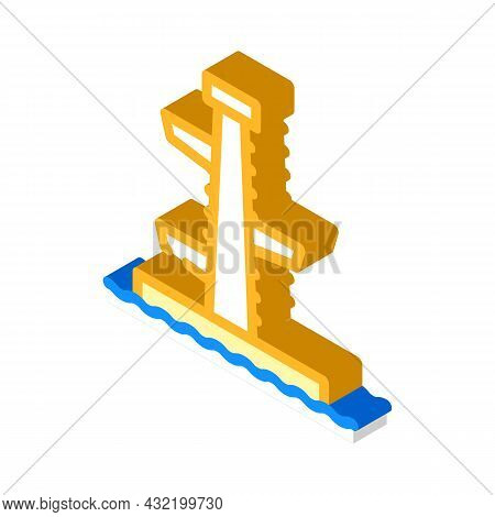 Jumping Tower Isometric Icon Vector. Jumping Tower Sign. Isolated Symbol Illustration