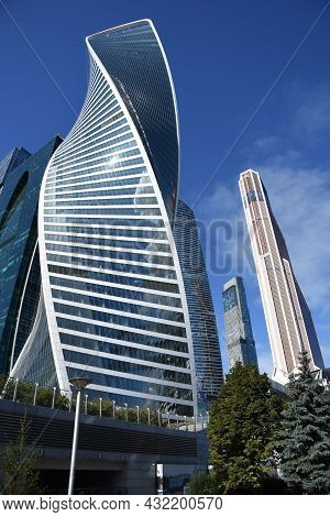 Moscow - September 04, 2021: Moscow City (moskva City) Business And Apartments Center, Popular Landm