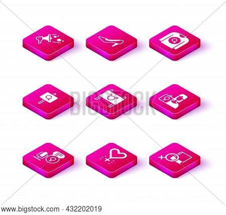 Set Microphone, Feminism, Feminist Activist, Book About Women, Shirt And Woman Shoe Icon. Vector