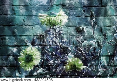 Mural Wall- Paint Brush. Wallpaper Pattern- Art Drawing