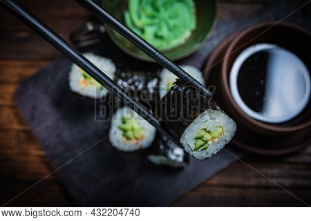 Sushi- Delicious Asian. Fastfood- Restaurant Concept