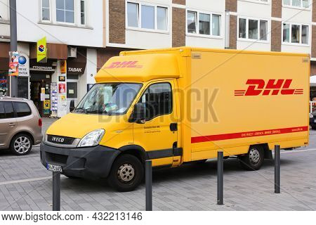 Gelsenkirchen, Germany - September 17, 2020: Dhl Courier Delivery Van In Germany. Dhl Is Part Of Ger