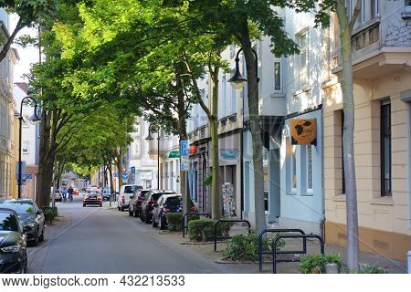 Herne, Germany - September 17, 2020: Street View Downtown Herne. It Is 21st Largest City In State Of