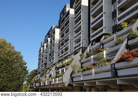 Marl, Germany - September 20, 2020: Residential Architecture Of Marl, Germany. Marl Is An Important