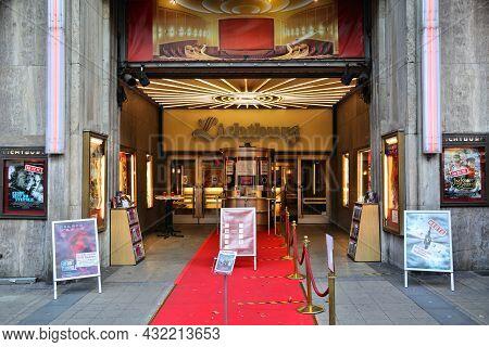 Essen, Germany - September 20, 2020: Lichtburg Retro Movie Theater In Essen, Germany. Essen Is The 9