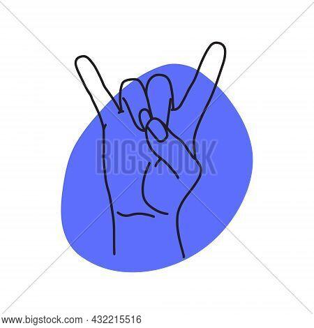 Mudra Apana-mrigi. Hands Vector Illustration. Yogic Hand Gesture.