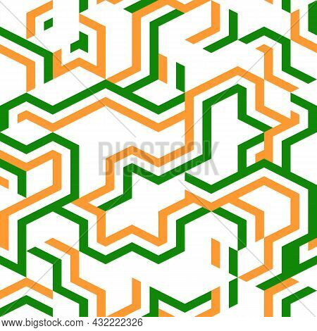 Abstract Geometric Color Seamless Pattern. Modern Geometric Stripe Texture. Repeating Abstract Backg