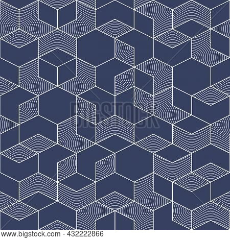 Vector Modern Geometric Tiles Pattern. Abstract Art Deco Seamless Luxury Background.