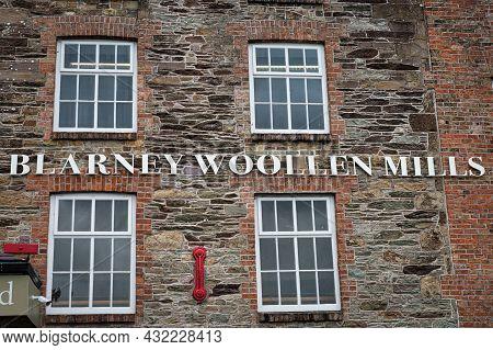 Blarney, Ireland- July 14, 2021: The Sign For Blarney Woollen Mills In County Cork Ireland