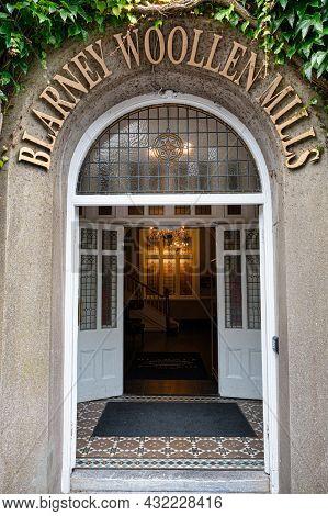 Blarney, Ireland- July 14, 2021: The Door For Blarney Woollen Mills In County Cork Ireland