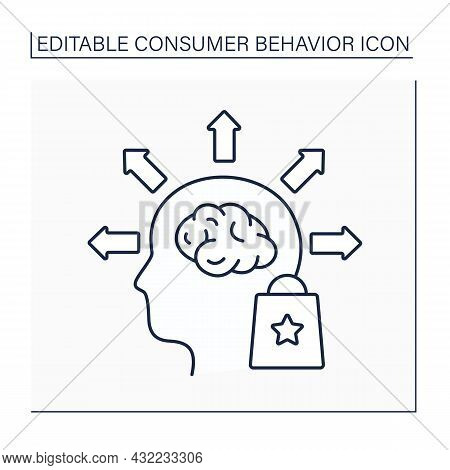 Behavioral Segmentation Line Icon. Sorting And Grouping Process. Dividing Potential Consumers Based