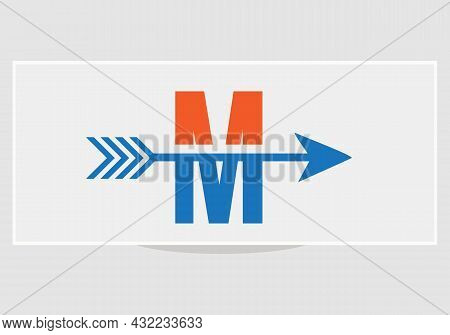 Financial Logo With M Letter Upward Arrow Concept. Initial M Letter Financial Marketing, Business An