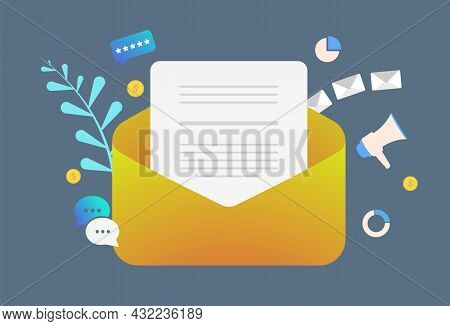 Lead Generation Digital Email Marketing Concept. Drip Advertising E-mail Newsletter Campaign. Send P