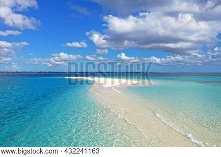 Amazing bird eyes view in Zanzibar. sea landscape