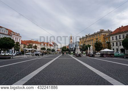 The Historic City Center Of Old Town Vilnius