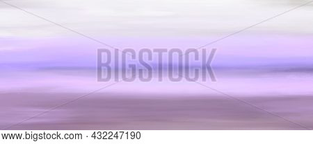 Purple Blue Lilac Striped Background With Blur, Gradient And Grunge Texture. Striped Texture. Space
