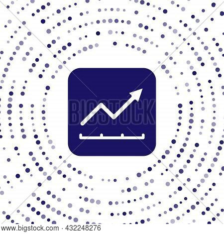 Blue Financial Growth Increase Icon Isolated On White Background. Increasing Revenue. Abstract Circl