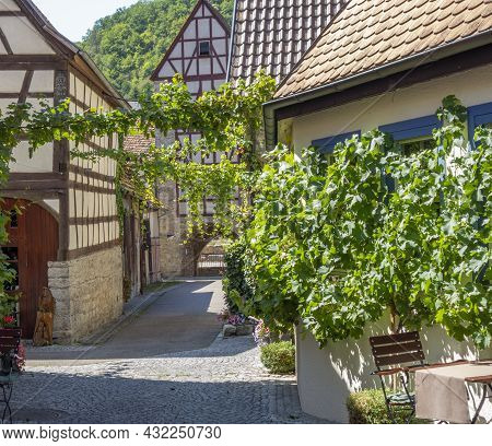 Idyllic Scenery At Niedernhall In The Hohenlohe District In Southern Germany At Summer Time