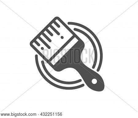 Paint Brush Icon. Wall Paintbrush Sign. Creative Drawing Art Symbol. Classic Flat Style. Quality Des