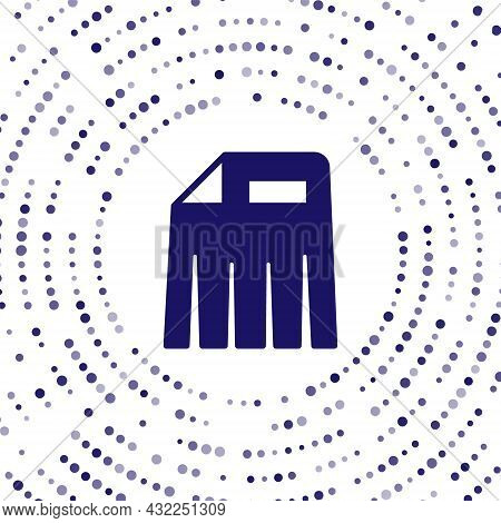Blue Paper Shredder Confidential And Private Document Office Information Protection Icon Isolated On