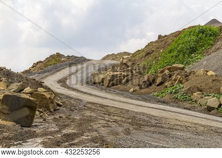Stone Quarry In Southern Germany At Summer Time In Sunny Ambiance