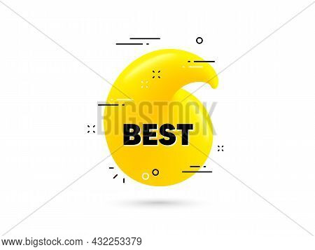 Best Promotion Text. Yellow 3d Quotation Bubble. Special Offer Sale Sign. Advertising Discounts Symb