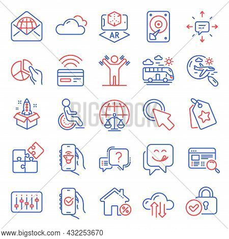 Business Icons Set. Included Icon As Cloud Sync, Sms, Website Search Signs. Approved App, Question M