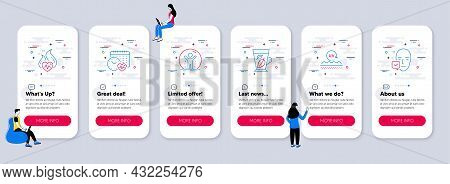 Set Of Healthcare Icons, Such As Recovered Person, Uv Protection, Mint Leaves Icons. Ui Phone App Sc