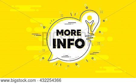 More Info Text. Idea Yellow Chat Bubble Banner. Navigation Sign. Read Description Symbol. More Info