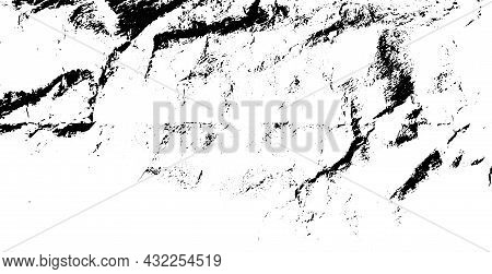 Distressed Overlay Texture Of Rough Surface, Crumpled Fabric, Cracks And Creases. Grunge Background.