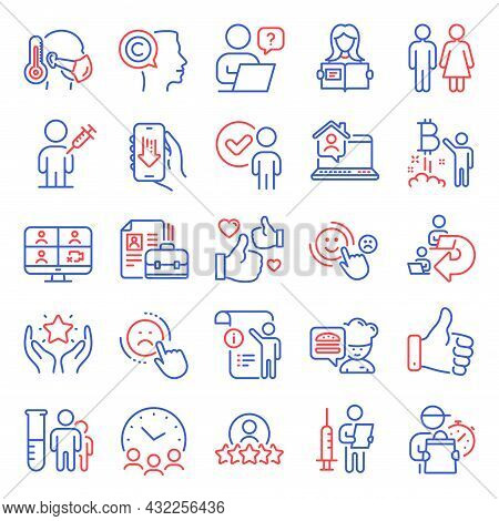People Icons Set. Included Icon As Human Rating, Chef, Delegate Work Signs. Medical Analyzes, Verifi