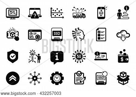 Vector Set Of Technology Icons Related To Artificial Intelligence, 5g Technology And Photo Thumbnail