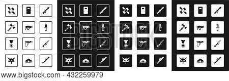 Set Rocket Launcher, Cannon, War Axe, Satellite, Military Knife, Assault Shield, Sniper Rifle With S