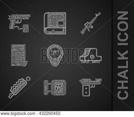 Set Location With Weapon, Hunting Shop, Pistol Or Gun, Collimator Sight, Trap Hunting, Firearms Lice