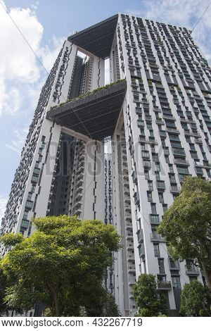 Singapore- 6, Sep 2021: The Pinnacle At Duxton Unique Housing Project In Singapore, It Features The